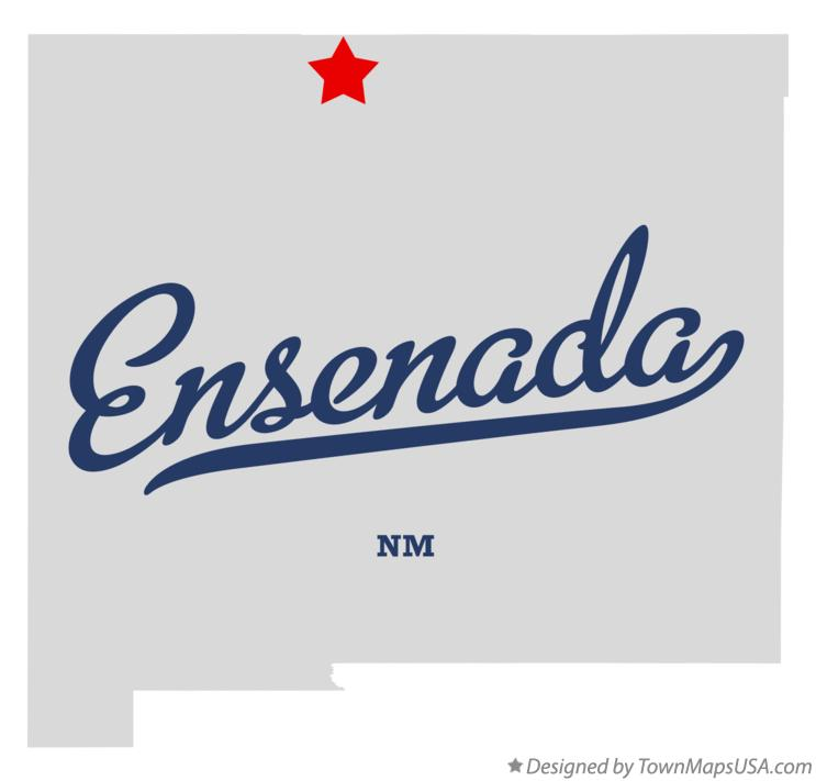 Map of Ensenada New Mexico NM