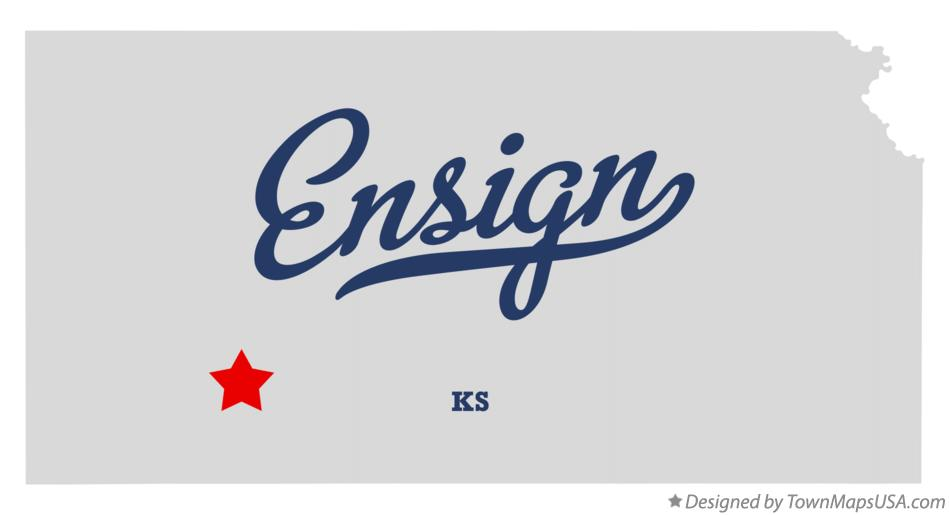 Map of Ensign Kansas KS