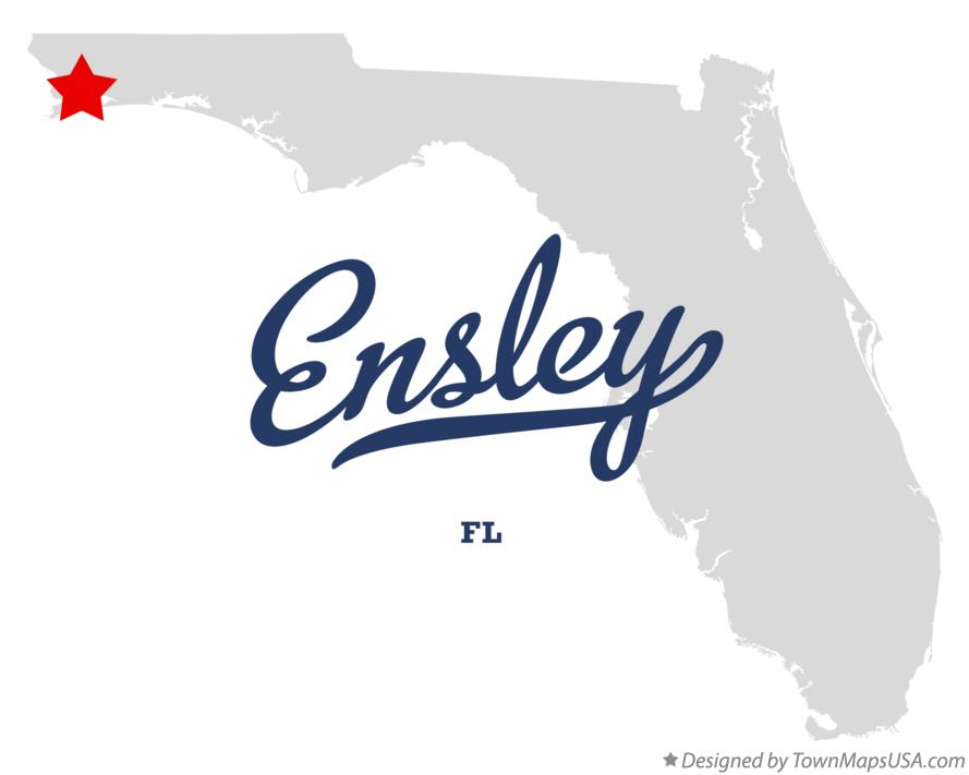 Map of Ensley Florida FL