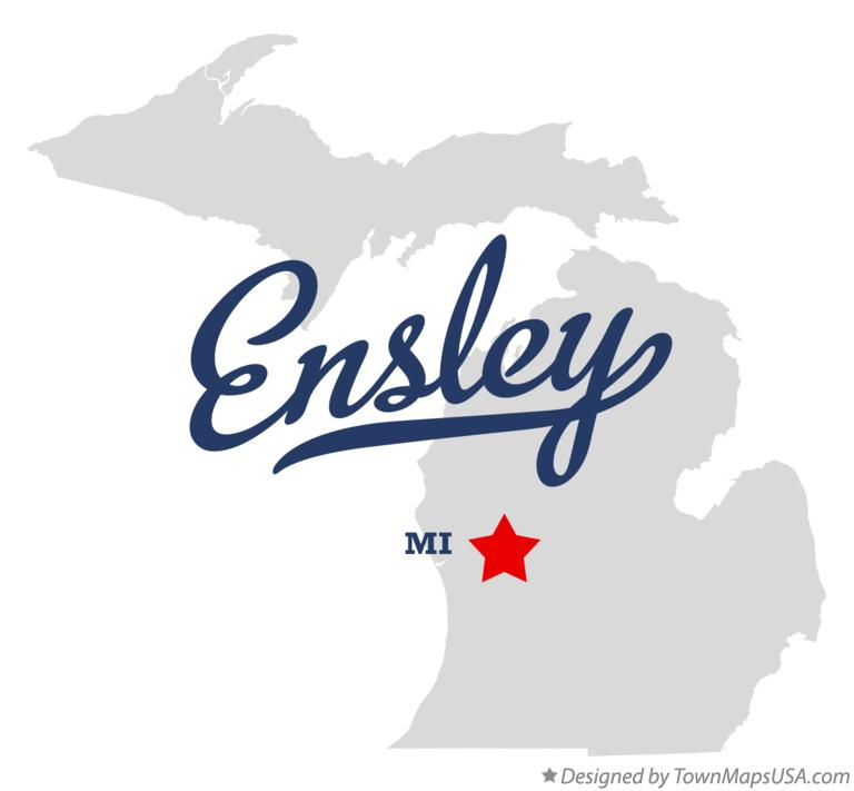 Map of Ensley Michigan MI