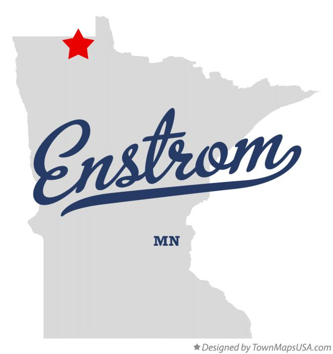 Map of Enstrom Minnesota MN