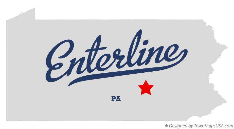 Map of Enterline Pennsylvania PA