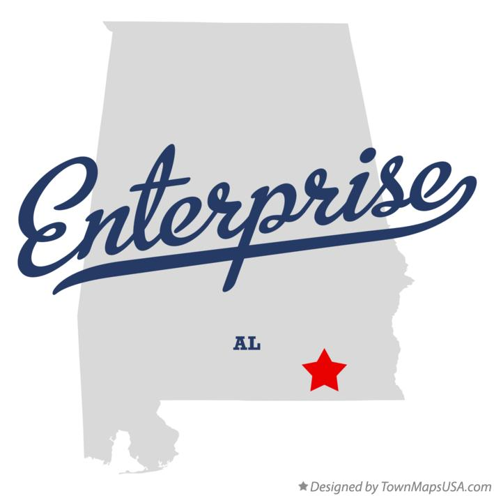 Map of Enterprise Alabama AL