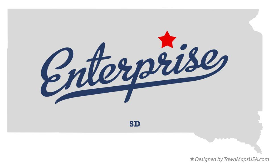 Map of Enterprise South Dakota SD
