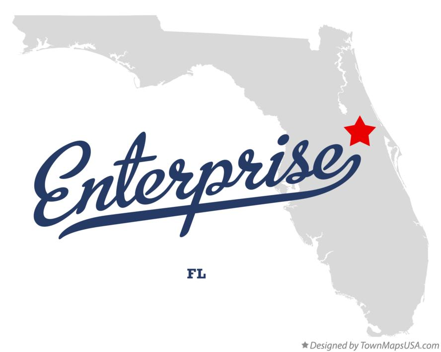 Map of Enterprise Florida FL
