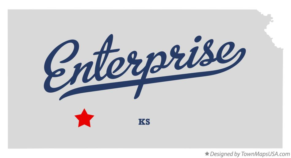 Map of Enterprise Kansas KS