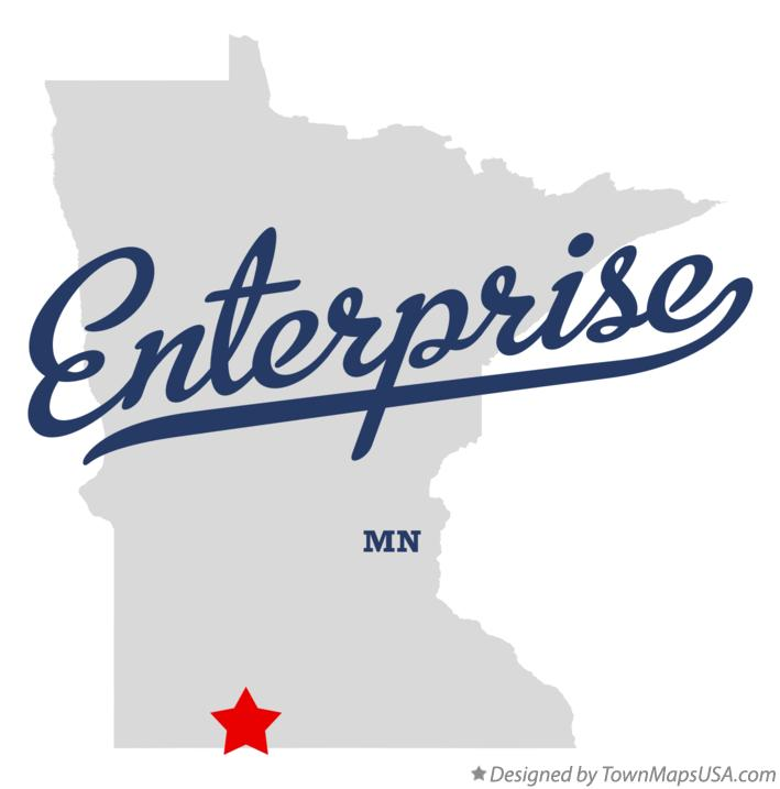 Map of Enterprise Minnesota MN