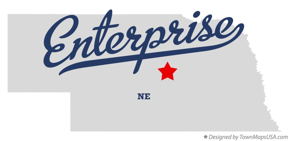 Map of Enterprise Nebraska NE