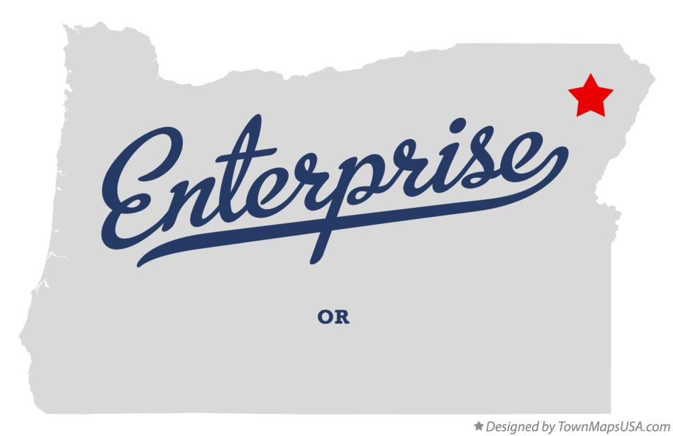 Map of Enterprise Oregon OR