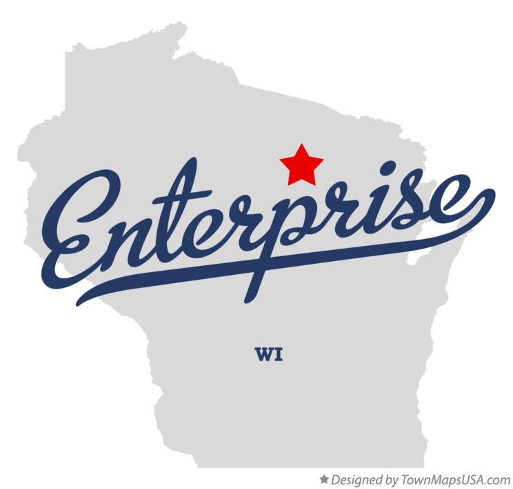 Map of Enterprise Wisconsin WI