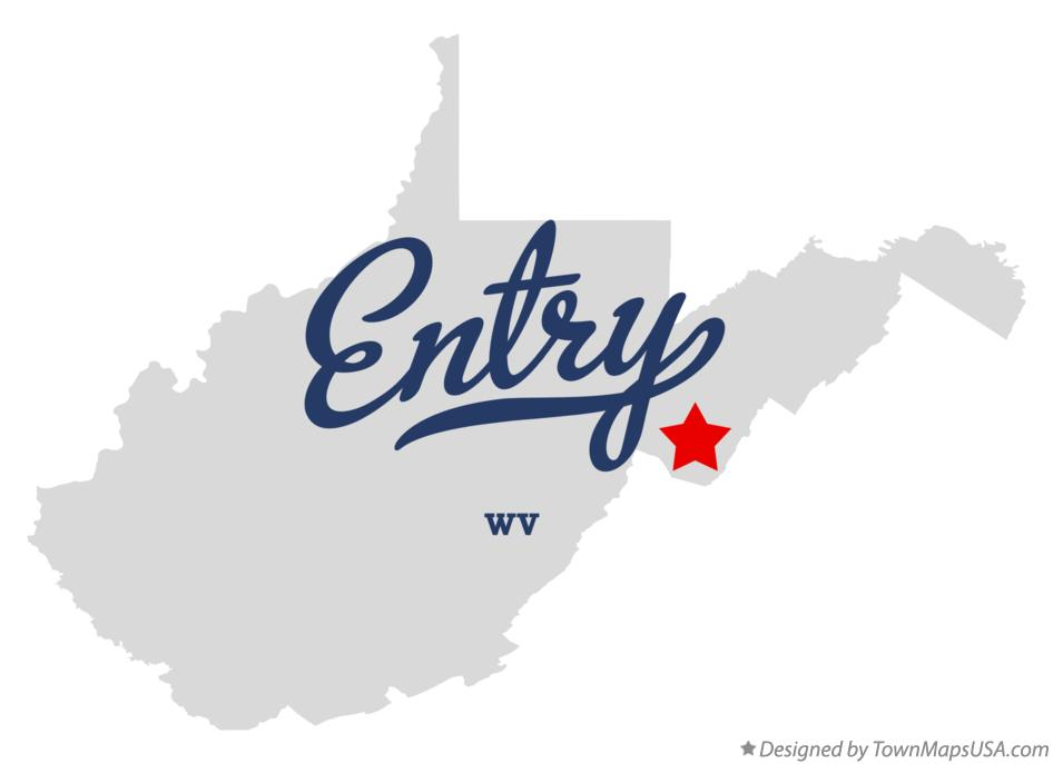 Map of Entry West Virginia WV