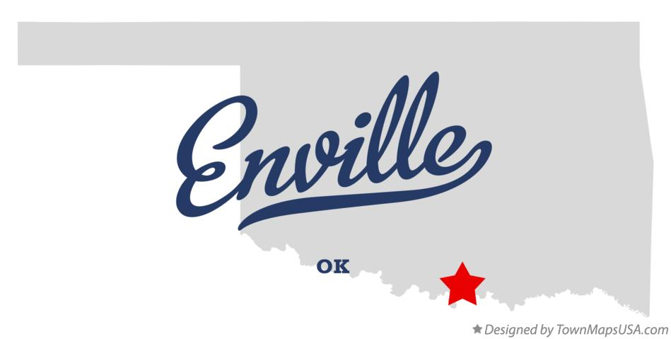 Map of Enville Oklahoma OK