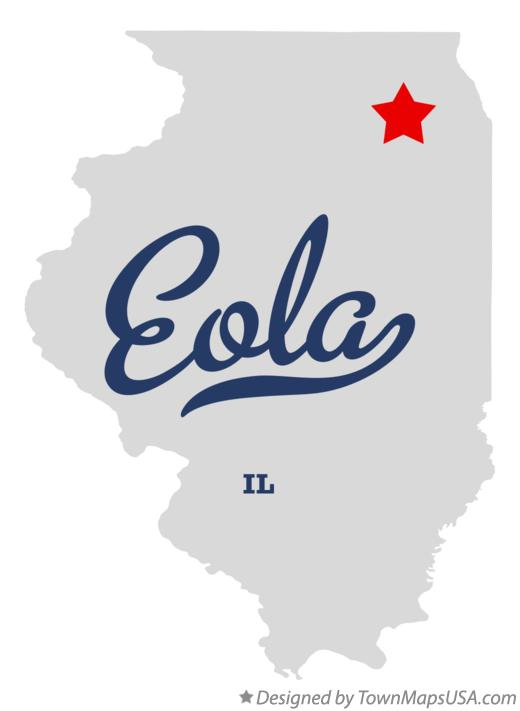 Map of Eola Illinois IL