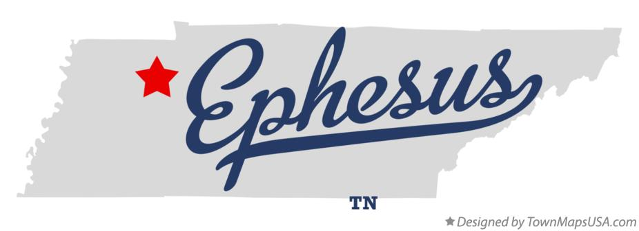 Map of Ephesus Tennessee TN