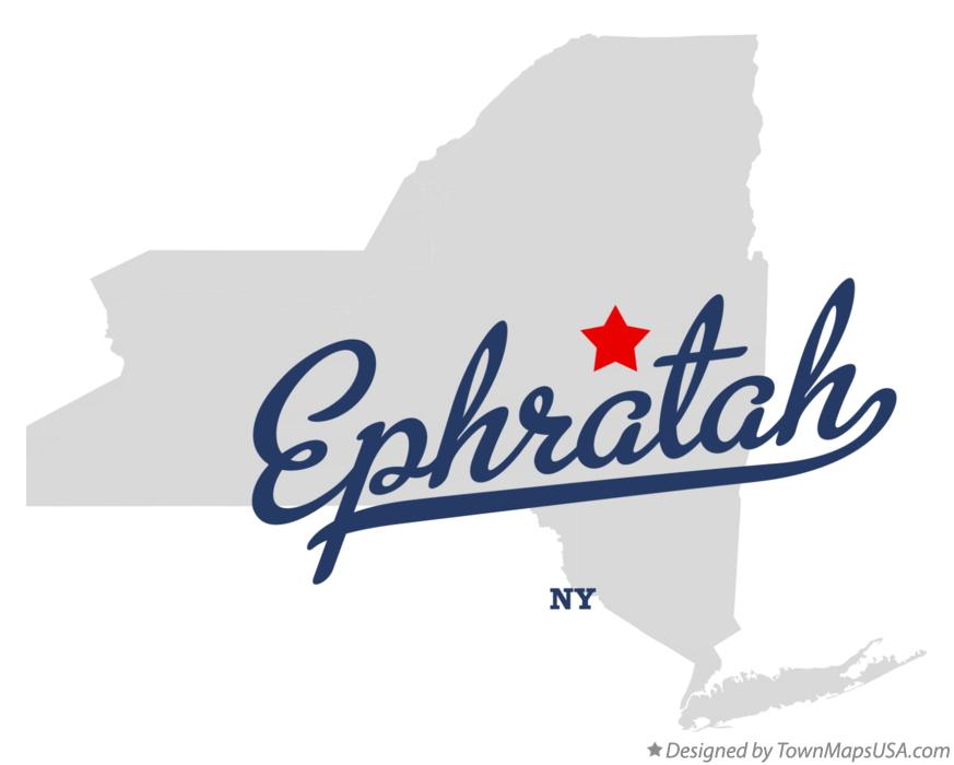 Map of Ephratah New York NY