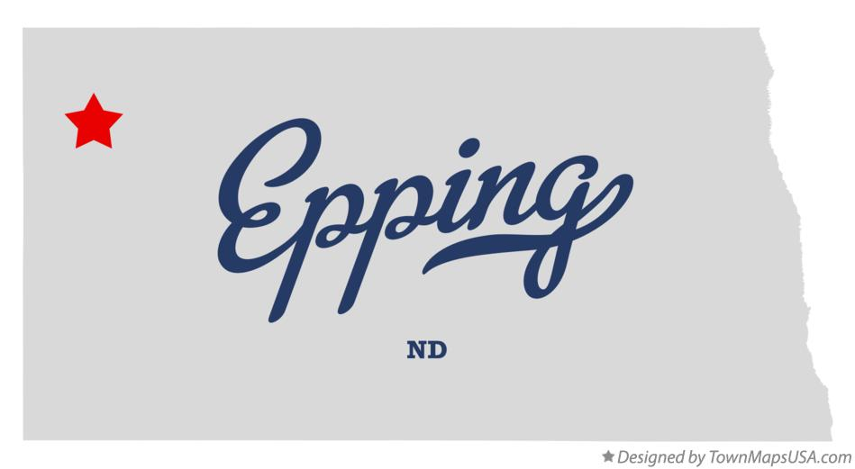 Map of Epping North Dakota ND