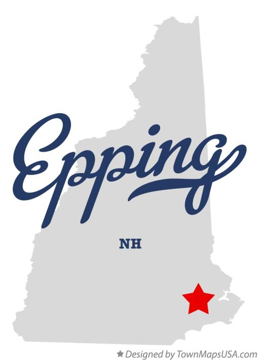 Map of Epping New Hampshire NH