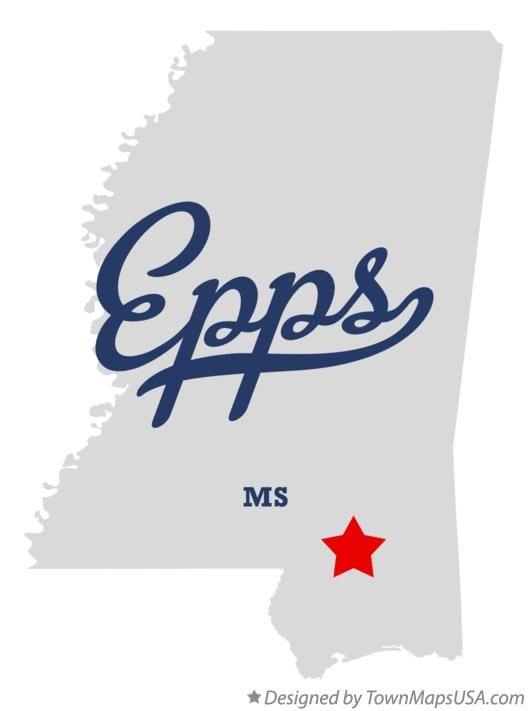 Map of Epps Mississippi MS