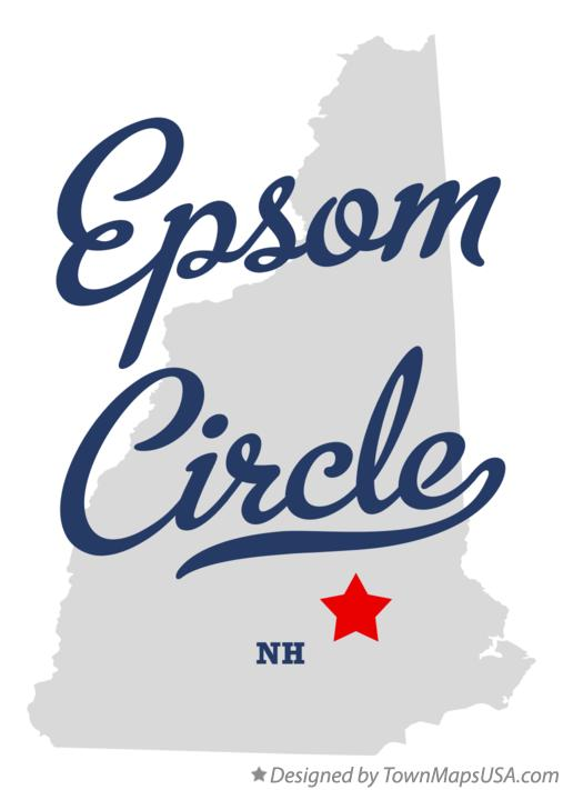 Map of Epsom Circle New Hampshire NH