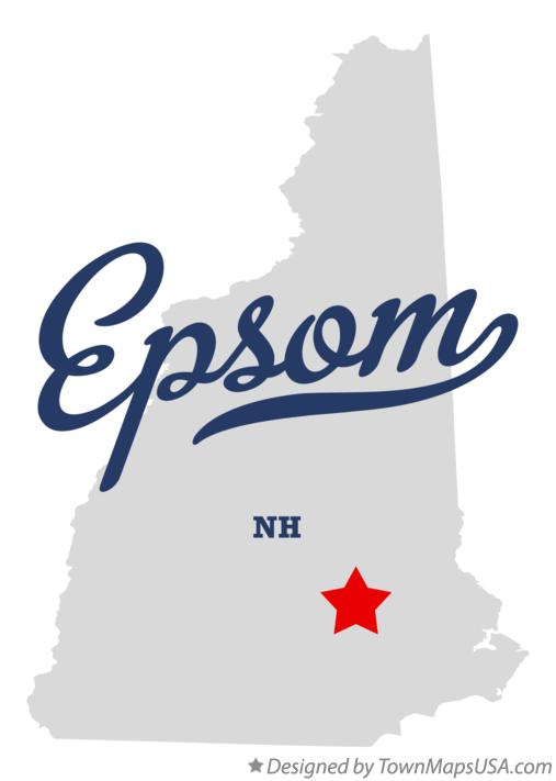Map of Epsom New Hampshire NH