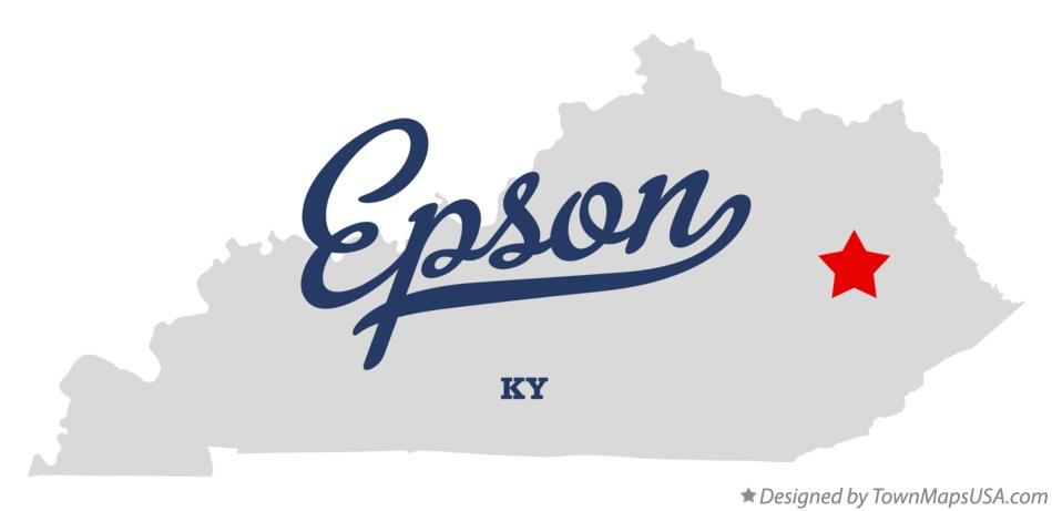 Map of Epson Kentucky KY