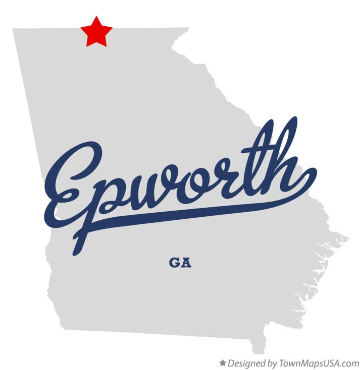 Map of Epworth Georgia GA