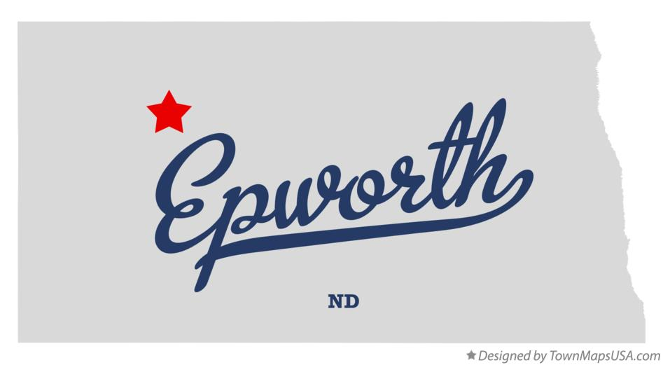 Map of Epworth North Dakota ND