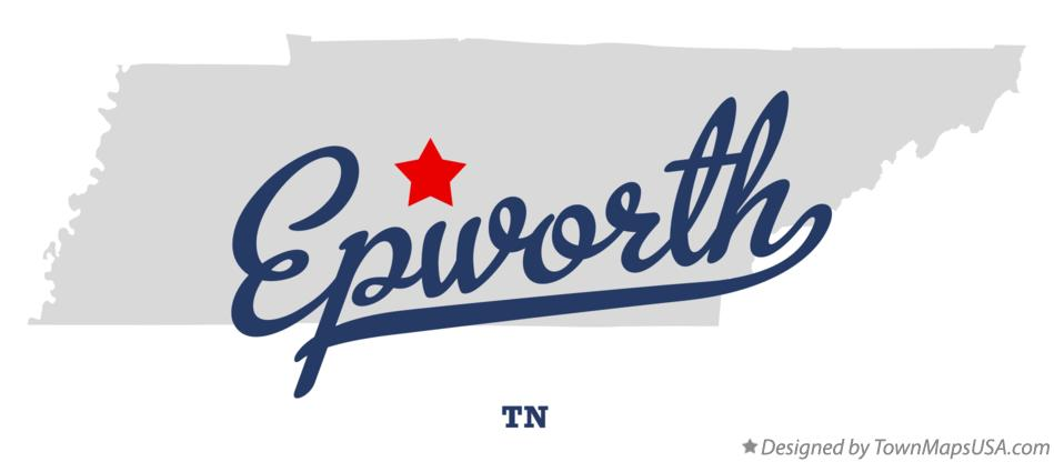 Map of Epworth Tennessee TN
