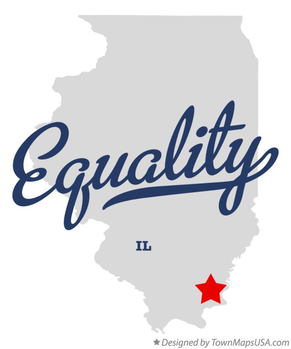 Map of Equality Illinois IL