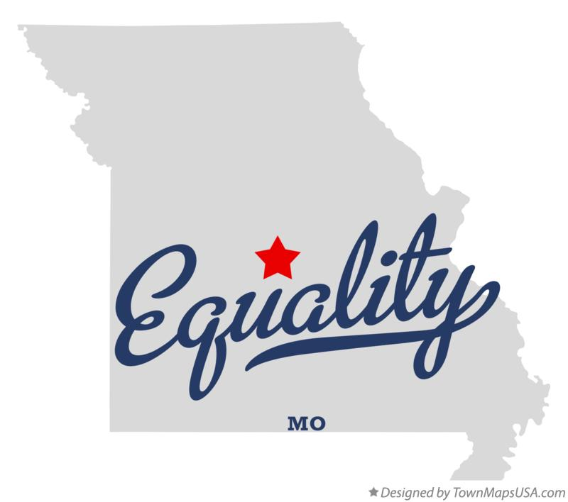 Map of Equality Missouri MO