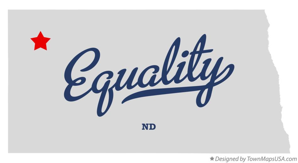 Map of Equality North Dakota ND