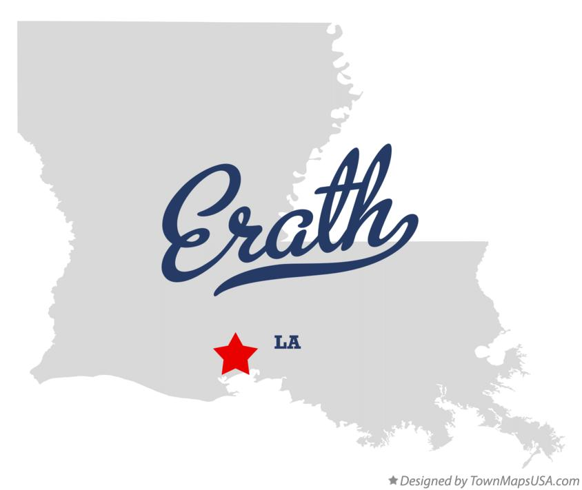 Map of Erath Louisiana LA