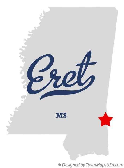 Map of Eret Mississippi MS