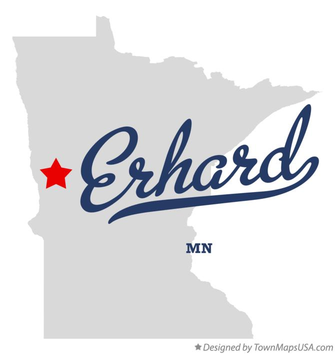 Map of Erhard Minnesota MN
