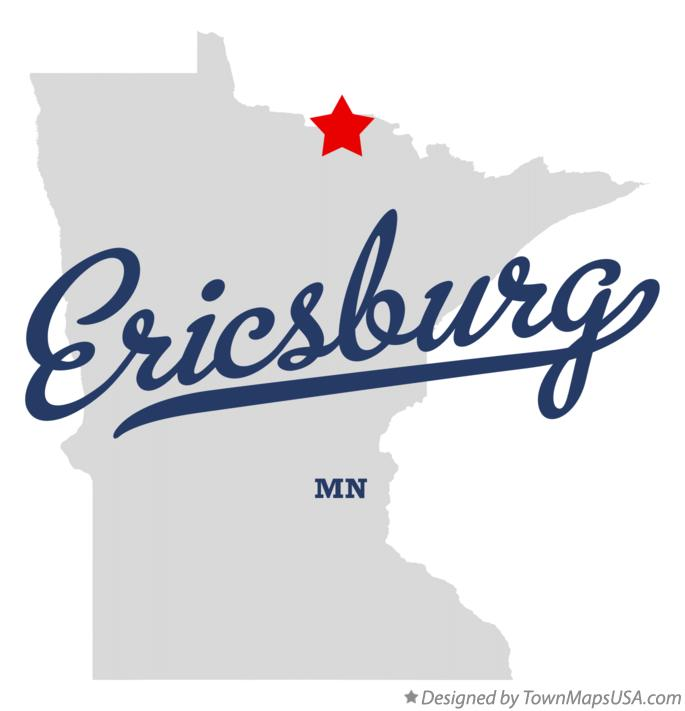 Map of Ericsburg Minnesota MN