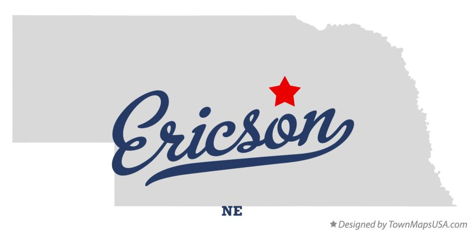 Map of Ericson Nebraska NE