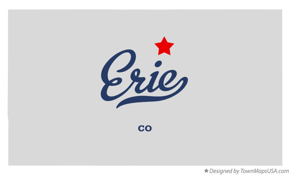 Map of Erie Colorado CO