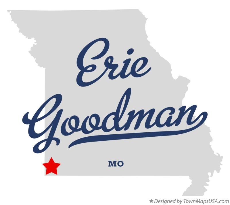 Map of Erie Goodman Missouri MO
