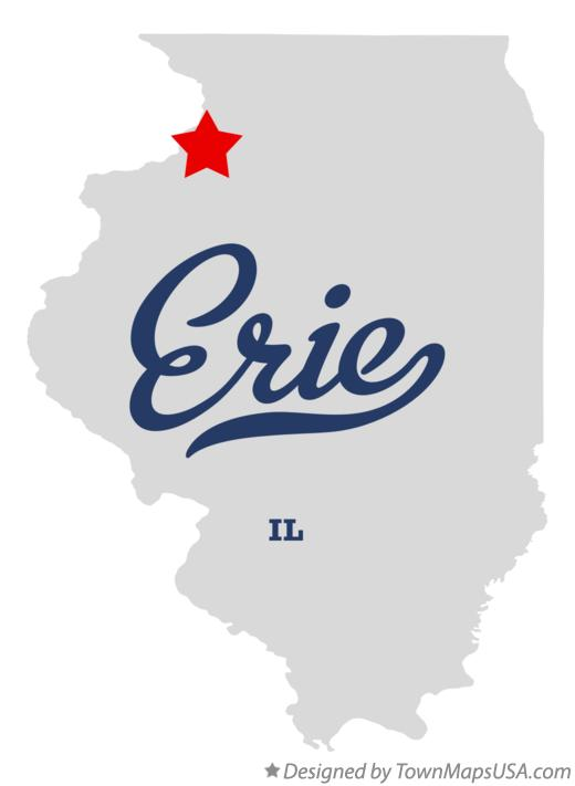 Map of Erie Illinois IL