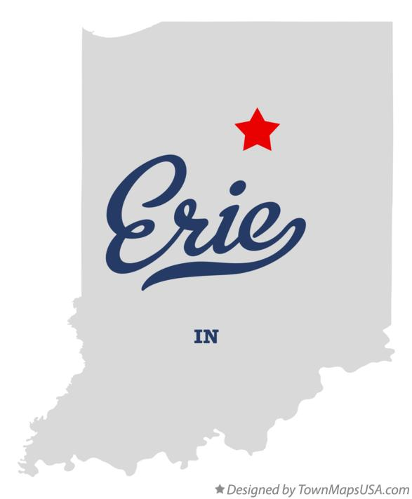 Map of Erie Indiana IN