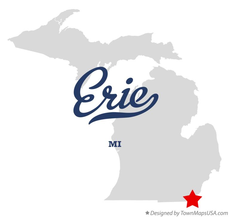 Map of Erie Michigan MI