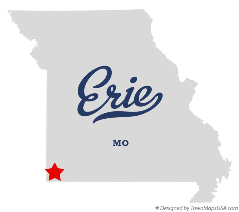 Map of Erie Missouri MO