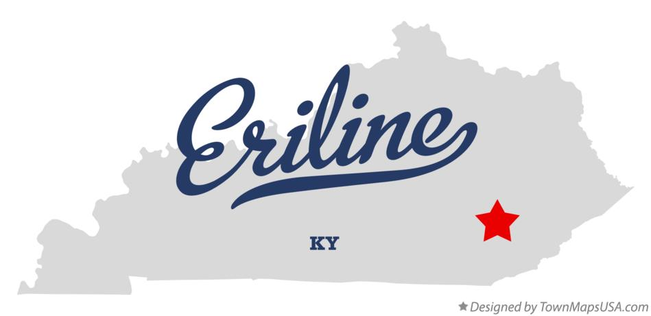 Map of Eriline Kentucky KY