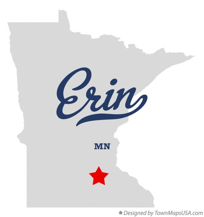 Map of Erin Minnesota MN