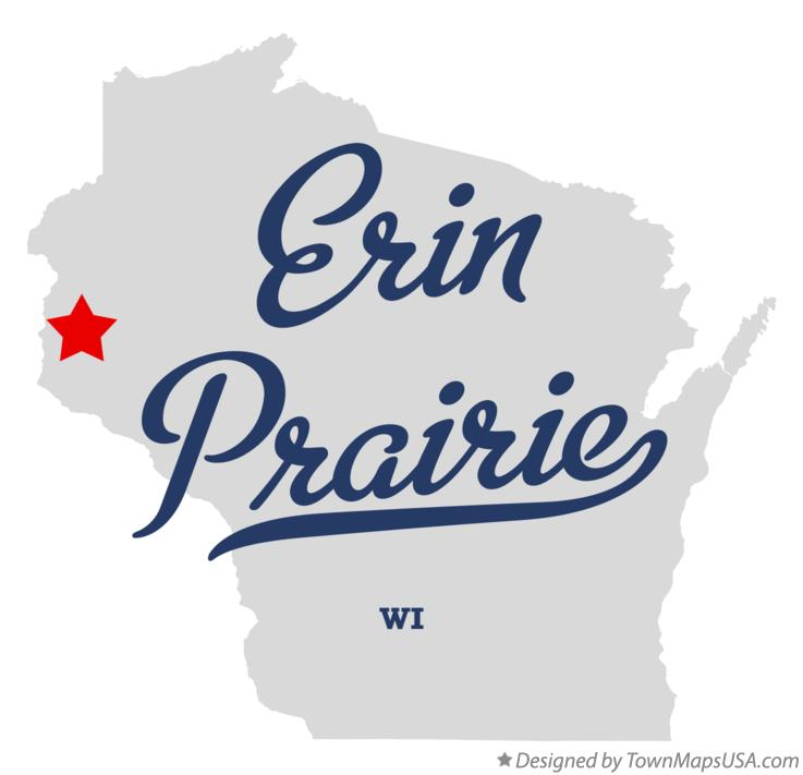 Map Of Erin Prairie Wi Wisconsin