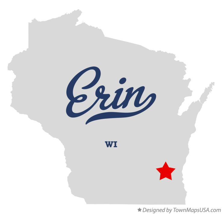 Map of Erin Wisconsin WI