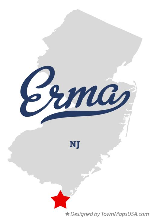 Map of Erma New Jersey NJ