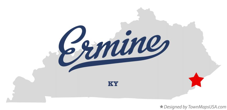 Map of Ermine Kentucky KY