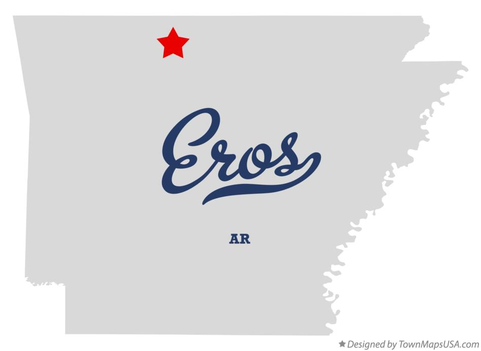 Map of Eros Arkansas AR