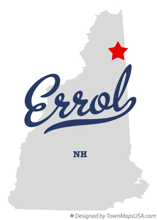 Map of Errol New Hampshire NH